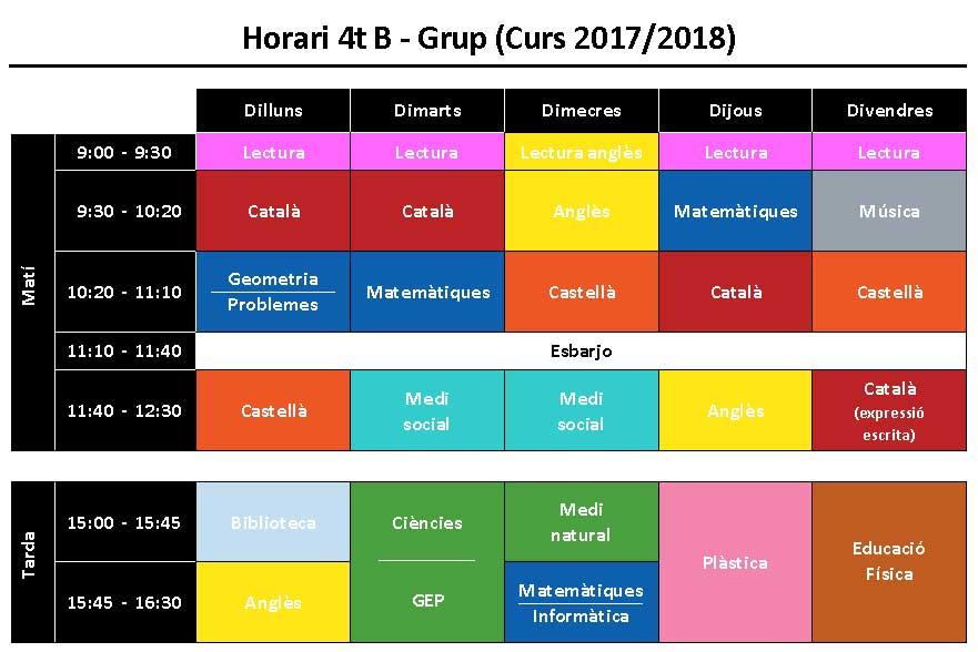 Horaris-1718-4tB
