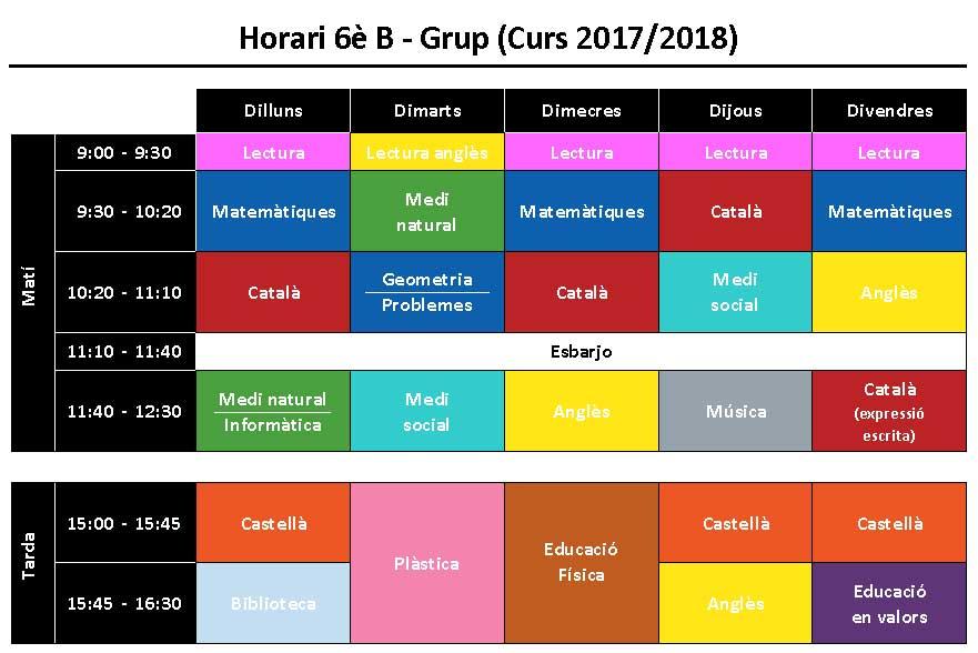Horaris-1718-6èB
